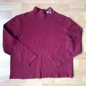 Snow Flakes Burgundy Sweater